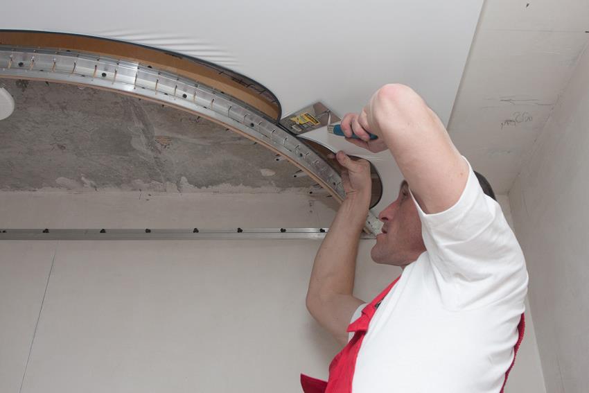 как сделать двухуровневые потолки
